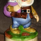 Snow White Lot Schmid Happy Ceramic Musical Figurine 358 Seven Dwarfs Music Box Make Someone + Vase