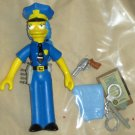 Officer Marge Simpson World Springfield Figure WOS Series 7 Loose Playmates Simpsons Accessories