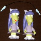 Sherri & Terri World of Springfield Interactive Figure WOS Series 8 Loose Playmates Simpsons