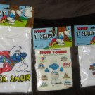 "Floppy Smurf T-Shirt Lot of 3 Tee Shirt Shirts The Smurfs Smurfette 14"" 22"" Peyo Wallace Berrie 1981"