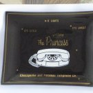 Chesapeake and Potomac Telephone Co Ashtray Glass Dish C&P The Princess Phone Gold Trim Brown