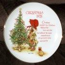 Holly Hobbie Genuine Porcelain 8 Inch Christmas Plate 1978 Commemorative Edition
