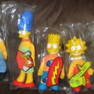 The Simpsons Family 1990 Burger King BK Plush Doll Lot Homer Marge Bart Lisa Maggie Fox TV