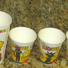 Burger King Simpson Soft Drink Soda Cup Lot 2007 The Simpsons Movie Homer Bart Lisa Kang Kodos