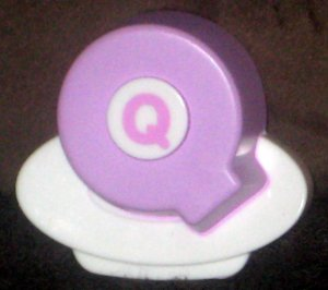 VTech ABC Food Fun Replacement Letter Q Purple Magnetic Refrigerator