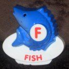 VTech ABC Food Fun Replacement Letter F Blue Fish Magnetic Refrigerator