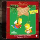 Bart and Lisa Simpson Carlton Heirloom Collection Ornament A Simpsons Christmas 2002 NIB Angels