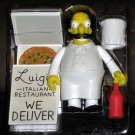 Italian Chef Luigi World of Springfield Interactive Figure WOS Series 14 Loose Playmates Simpsons