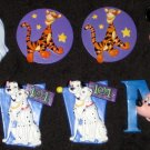 Walt Disney Pin Lot of 7 Mickey Mouse Tigger Pocahontas 101 Dalmations