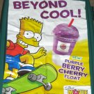 The Simpsons Movie Burger King Kids Meal Toys Promo Signs Vinyl Window Clings 2007 Bart Simpson Lisa
