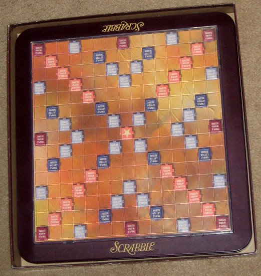 SOLD Deluxe Edition Scrabble Crossword Game Collectors Edition Turntable Board Rotating Hasbro 1999