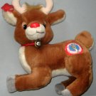 10 Inch Rudolph the Red Nosed Reindeer Plush Applause Bell 1988