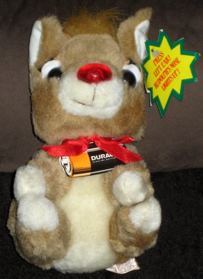 SOLD My Little Rudolph the Red Nosed Reindeer Plush 8 Inch Applause Duracell Batteries 1993