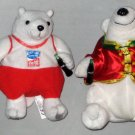 Coca Cola Plush Bean Bag Toy Polar Bear Lot Coke Athens Olympics 2004