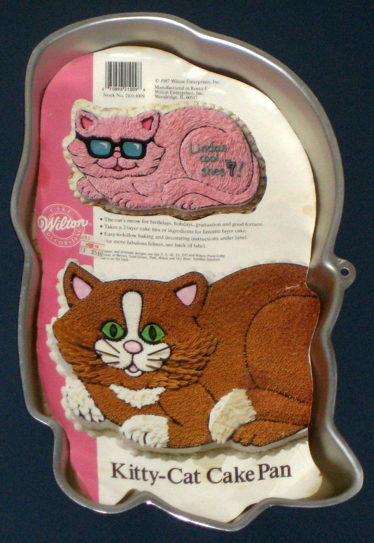 Wilton Kitty Cat Cake Pan Instructions