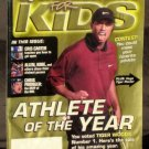 Tiger Woods Sports Illustrated For Kids Magazine with Insert Cards Poster 2001 Athlete of the Year