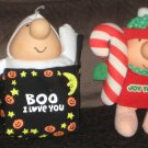 Ziggy American Greetings 7 Inch Plush Lot of 8 Santa Claus I Love You Christmas Cupid Post-It Notes
