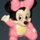 Baby Minnie Mouse Ceramic Figure Figurine Pink Disney