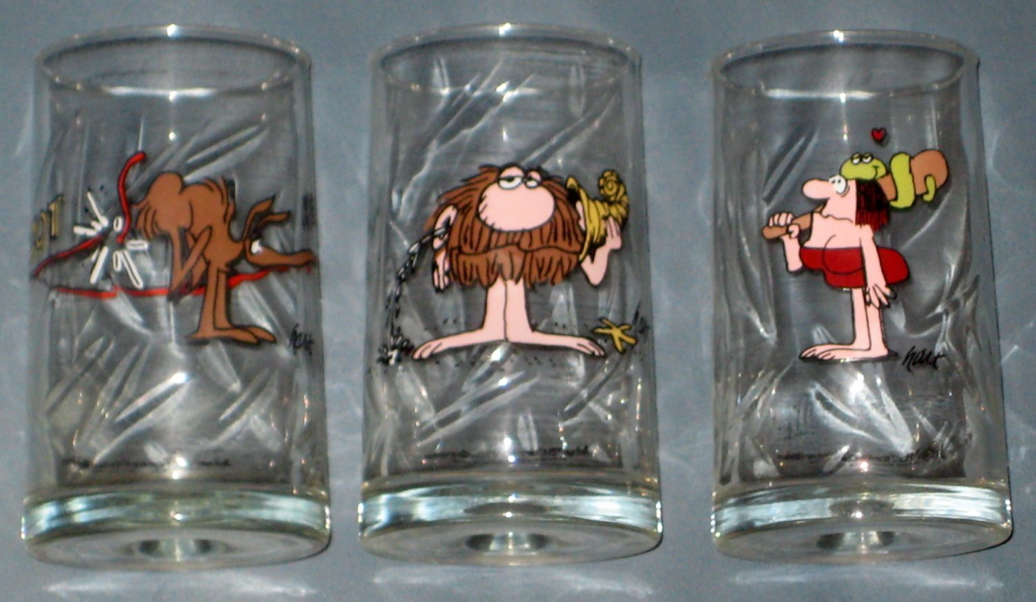 Arby's BC Ice Age Collector Series Drinking Glass Lot of 5 1981