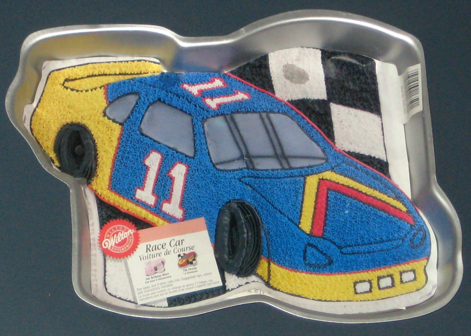 SOLD OUT Race Car Wilton Aluminum Cake Pan 2105 1350 The Champ Her Birthday Whirl