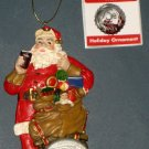 Coca Cola 75th Anniversary Christmas Tree Ornament Coke Kurt Adler Sundblom Santa Claus 2006