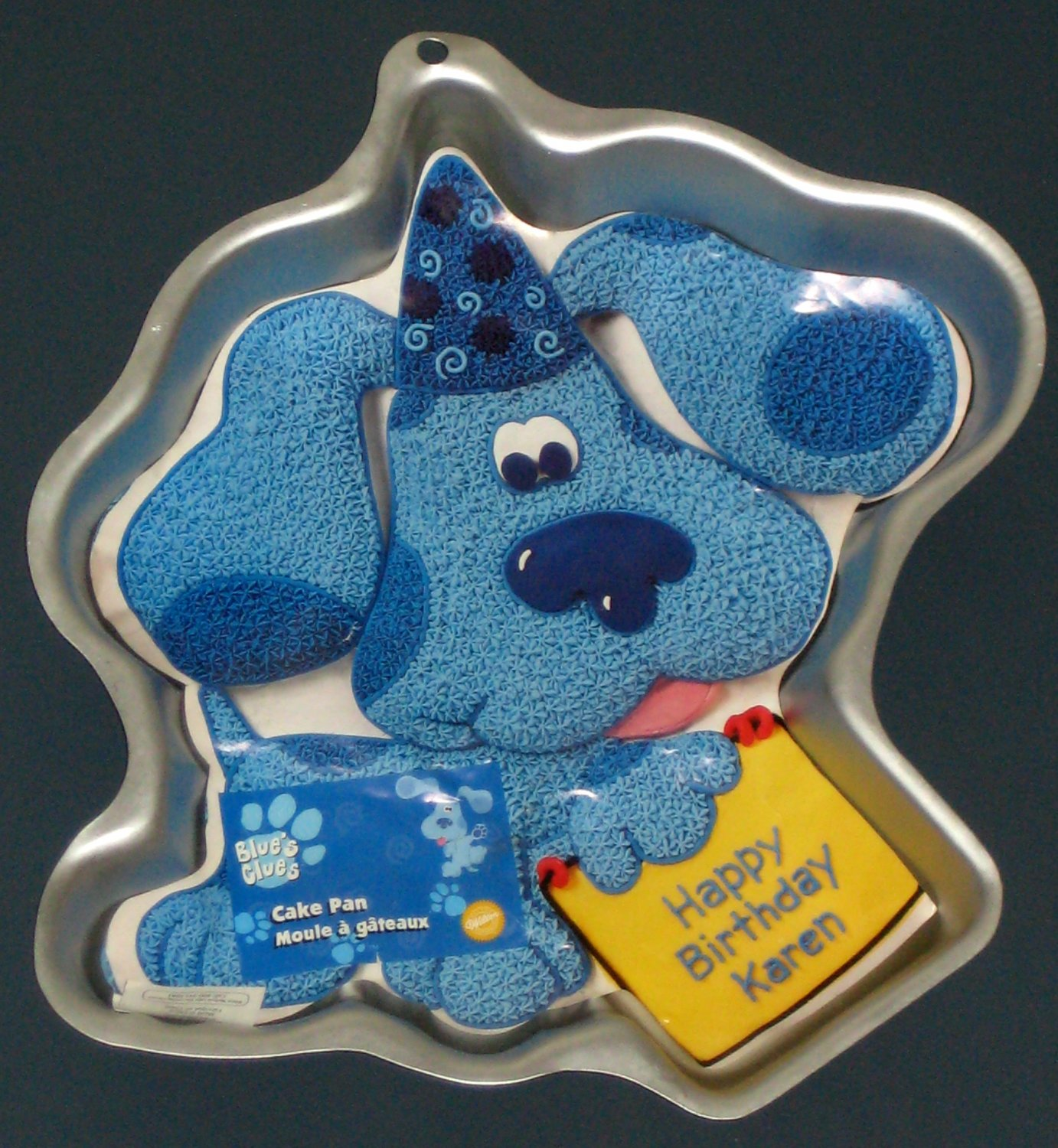 SOLD Wilton Cake Pan - Blues Clues - Happy Birthday -  2105-3060 - Aluminum - 1999