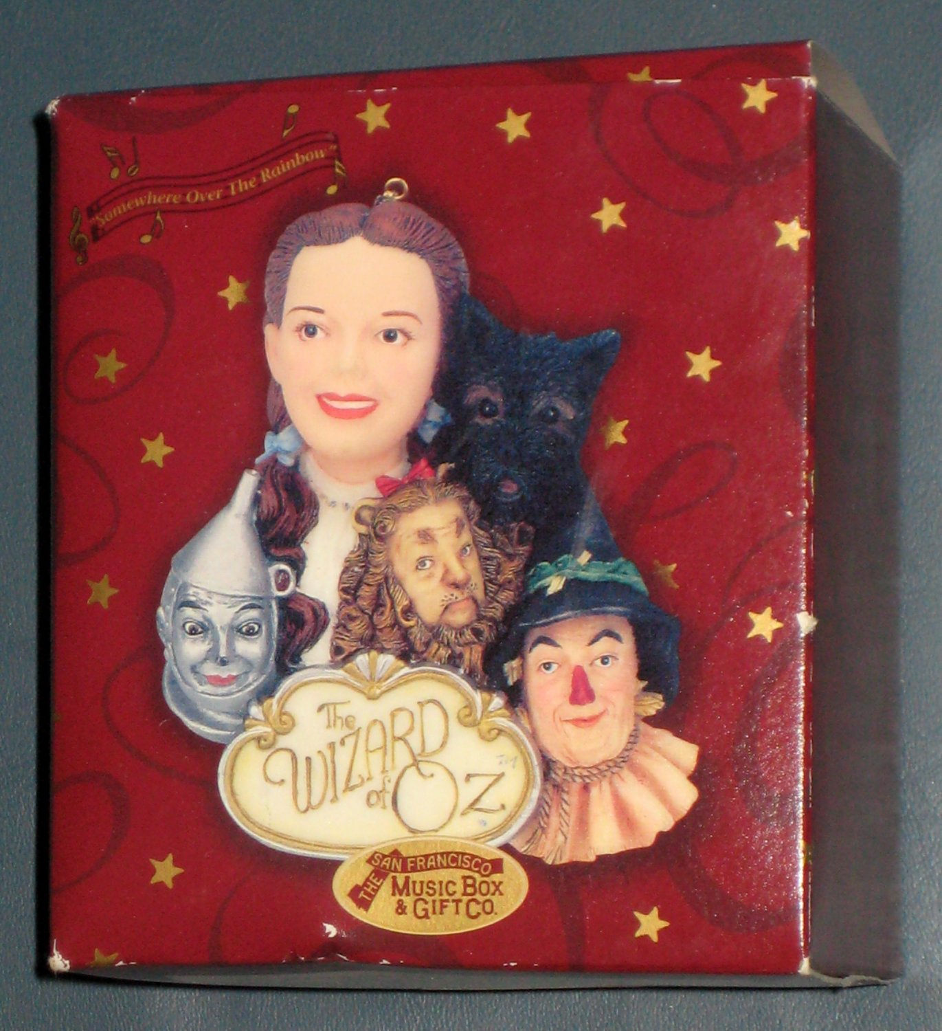 SOLD Wizard of Oz Musical Ornament Dorothy Toto Somewhere Over the Rainbow San Francisco Music Box