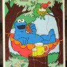 9 Playskool Wooden Frame Tray Puzzles Ernie Big Bird Kermit Bert Oscar Cookie Monster Sesame Street