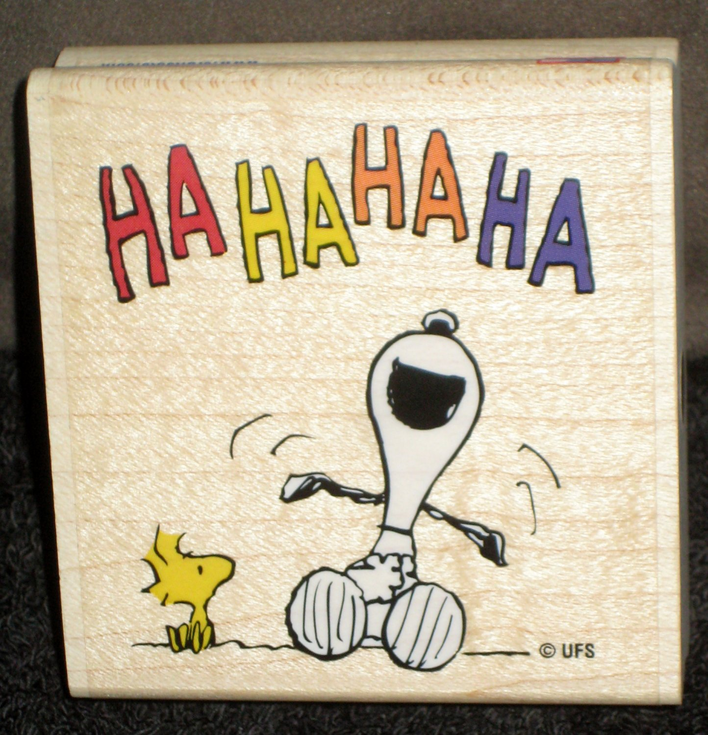 SOLD OUT Laughing Snoopy Woodstock Rubber Stamp G1038 Stampabilities Peanuts Gang 2002