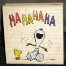 Laughing Snoopy Woodstock Rubber Stamp G1038 Stampabilities Peanuts Gang 2002