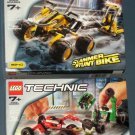 Lego Technic 8240 Slammer Stunt Bike 8241 Battle Cars NIB 2001