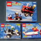 Lego System 6407 Fire Chief 6324 Chopper Cop 6517 Water Jet 3