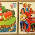 Fairchild 591 Mini Shape Jigsaw Puzzle Lot Barbershop Quartette Lighthouse Isle COMPLETE Jean Bell