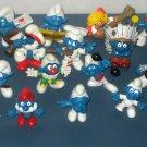 Smurf PVC Figure Lot 29 Smurfs Schleich Peyo Astrosmurf Fencer Smurfette Papa Gargamel Super Pewit