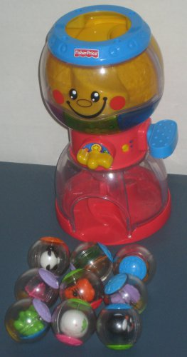 SOLD Fisher Price Swirlin' Surprise Musical Gumball Machine with 9 Roll-a-Rounds Balls