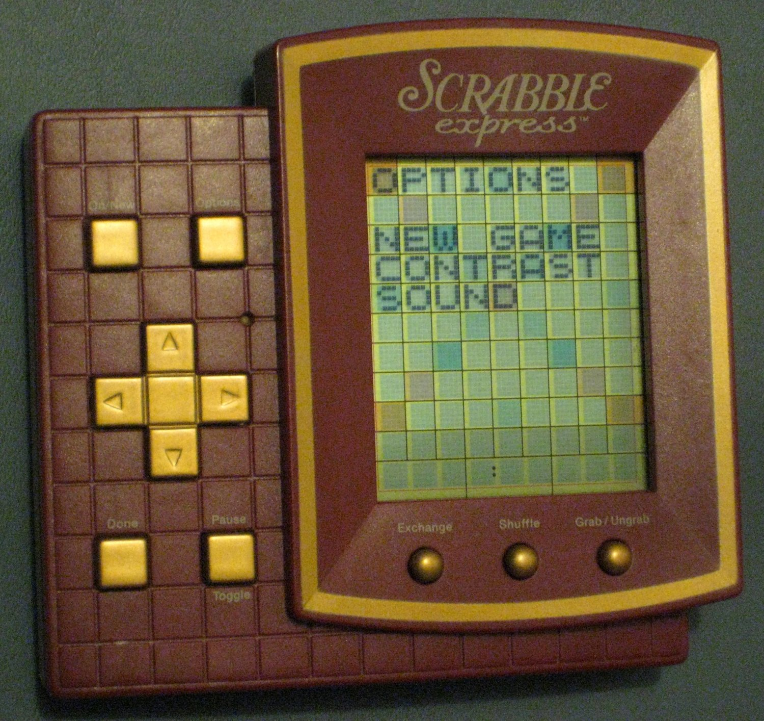 SOLD Scrabble Express Handheld Travel Game Electronic Hasbro 1999 Excellent Condition