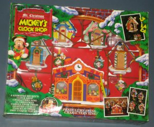 Mickey's Clock Shop Mr Christmas Mechanical Collectibles Mickey Donald