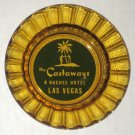 "The Castaways Howard Hughes Hotel Glass Ashtray Ash Tray 4½"" Scalloped Smoke Color Las Vegas"