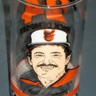 Rick Dempsey Drinking Glass 24 Horn & Horn Restaurants Baltimore Orioles Catcher Baseball MLB 1985