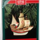 Santa Maria Hallmark Keepsake Christmas Ornament Boat Ship American Commemorative NIB 1992
