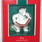 Dad Polar Bear Hallmark Keepsake Christmas Ornament with Box 1989