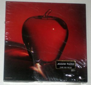 SOLD Crystal Creation 500 Piece Jigsaw Puzzle Springbok PZL2091 Red Apple Glass SEALED 1980