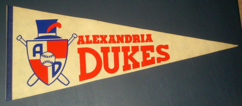 SOLD Alexandria Dukes Vintage Felt Pennant Flag White Carolina League Minor Defunct Baseball Team