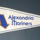 Alexandria Mariners Vintage Felt Pennant Flag White Carolina League Minor Defunct Baseball Team