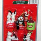 Coca-Cola Trim-A-Tree Mini Ornaments 14 Different Coke Christmas Santa Penguin Polar Bear Seal NIB