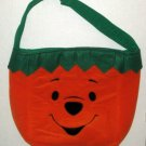 Winnie the Pooh Halloween Trick or Treat Handled Cloth Plush Candy Bag Disney