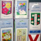 Lot 11 Decorative Garden Flags 5 Different Daisies Birds Welcome Ladybug Spring Bunny 28 x 40 NIP