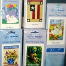 Lot 12 Decorative Garden Flags 5 Different Americana Patriotic Welcome Spring Bunny 28 x 40 NIP