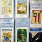 Lot 14 Decorative Garden Flags 5 Different Americana Patriotic Birds Welcome Bunny 28 x 40 NIP