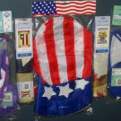 Lot 21 Decorative Garden Flags (2) + Wind Twirlers Spinners (2) + Windsock (1) Easter Patriotic NIP
